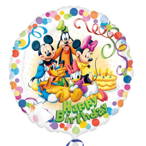 Mickey Mouse And Friends Happy Birthday Round Foil Helium Balloon 43cm / 17Inch Product Image