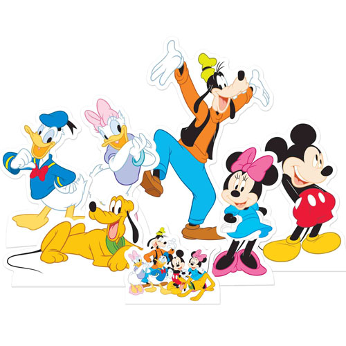 Mickey Mouse And Friends Table Top Cutout Decorations - Pack of 7