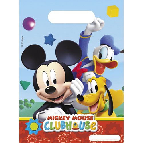 Mickey Mouse Clubhouse Loot Bags - Pack of 6
