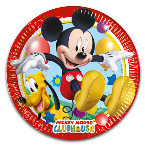Mickey Mouse Clubhouse Round Paper Plates 23cm - Pack of 8