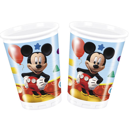 Mickey Mouse Clubhouse Plastic Cups 200ml - Pack of 8
