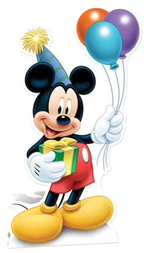 Mickey Mouse Party Lifesize Cardboard Cutout - 129cm Product Image