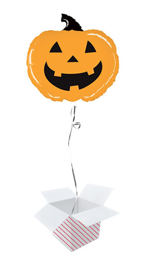 Mighty Orange Pumpkin Helium Foil Giant Balloon - Inflated Balloon in a Box Product Image