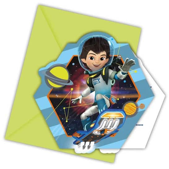 Miles From Tomorrow Party Invitations With Envelopes - Pack of 6