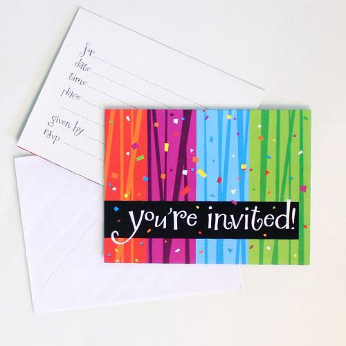 Milestone Celebrations Invitations With Envelopes - Pack of 8