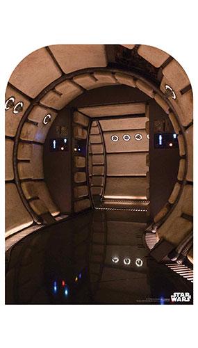 Millennium Falcon Corridor Child Size Star Wars Photo Backdrop Cardboard Cutout 130cm