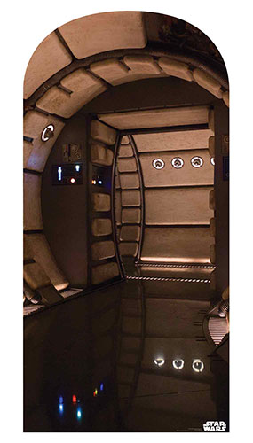 Millennium Falcon Corridor Star Wars Photo Backdrop Cardboard Cutout 184cm