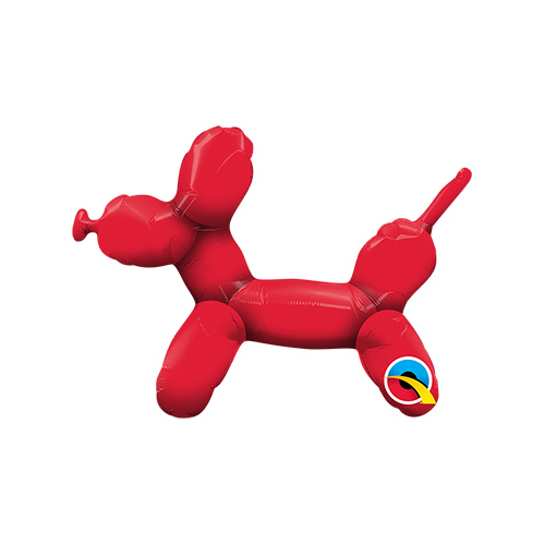 Mini Balloon Dog Red Air Fill Foil Qualatex Balloon 35cm / 14 in Product Image