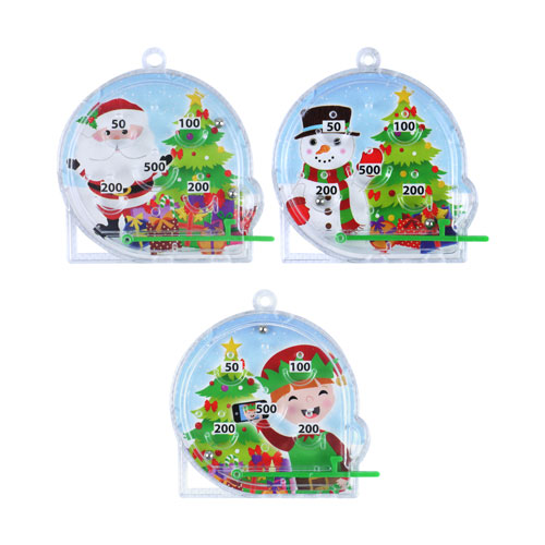 Assorted Christmas Characters Mini Pinball Game Product Image