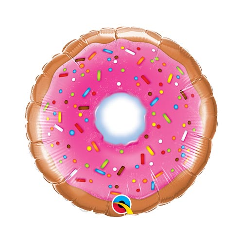 Mini Donut Air Fill Foil Qualatex Balloon 23cm / 9 in Product Image