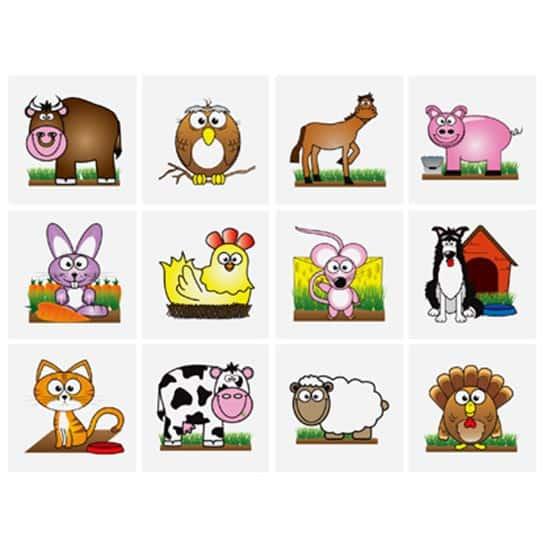 Mini Farm Tattoo Stickers - Pack of 12