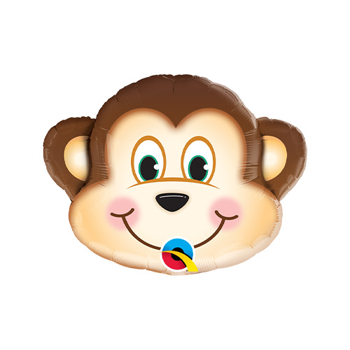 Mini Mischievous Monkey Air Fill Foil Qualatex Balloon 35cm / 14 in Product Image