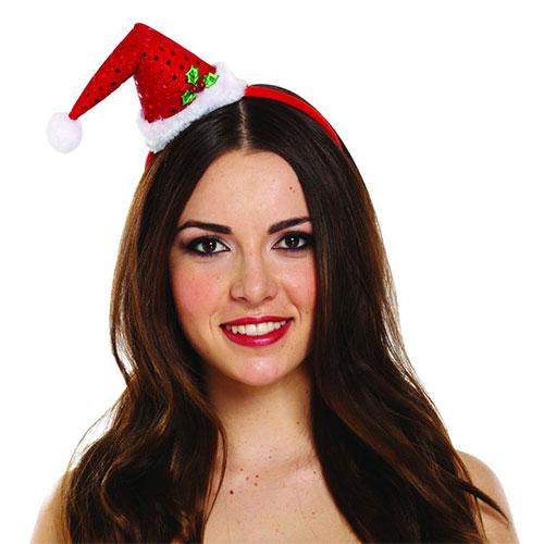 Mini Santa Hat Christmas Headband Fancy Dress