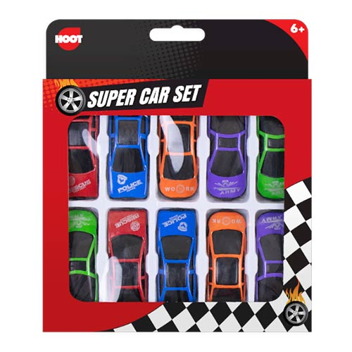 Mini Sports Cars Toys - Pack of 10 Product Image