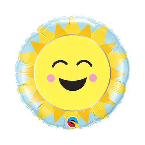 Mini Sunshine Rainbow Air Fill Foil Qualatex Balloon 23cm / 9 in Product Image