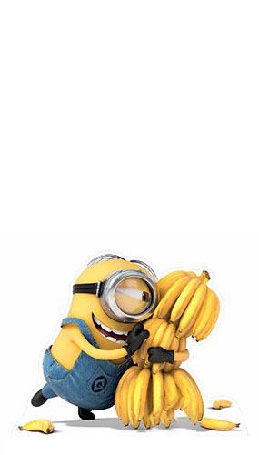 Minion Bananas Lifesize Cardboard Cutout - 100cm