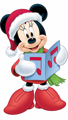 Minnie Mouse Christmas Carol Star Mini Cardboard Cutout 93cm Product Image