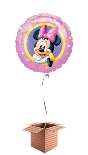 Minnie Mouse Round Foil Balloon - Inflated Balloon in a Box Product Image