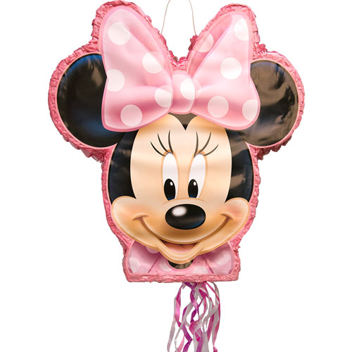 Minnie Mouse Shaped Pull String Pinata Product Image