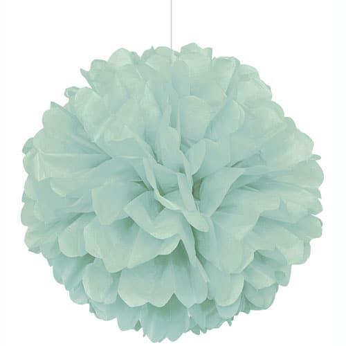Mint Honeycomb Hanging Decoration Puff Ball 40cm Product Image