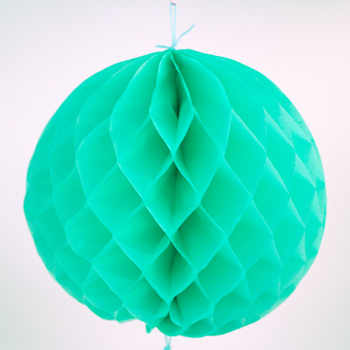 Mint Green Honeycomb Ball Hanging Decorations - Pack of 2 Product Image