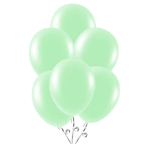 Mint Green Latex Balloons 23cm / 9Inch - Pack of 30
