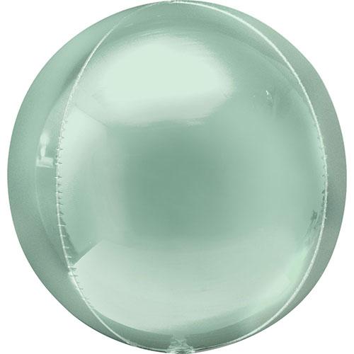 Mint Green Orbz Foil Helium Balloon 38cm / 15 in