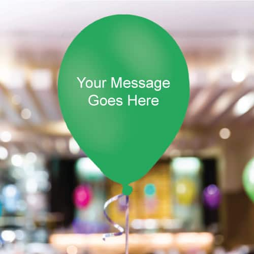 Mint-Green Personalised 11 Inch Latex - 35 Balloons