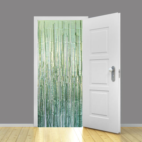 Mint Green Satin Foil Shimmer Curtain 95cm x 200cm - Pack of 10 Product Image