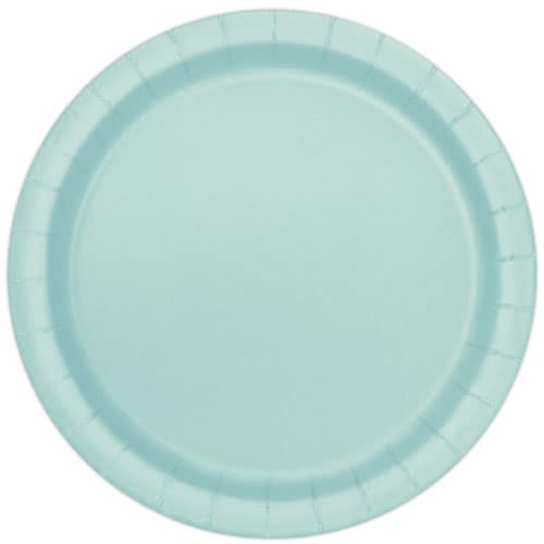 Mint Round Paper Plates 22cm - Pack of 16