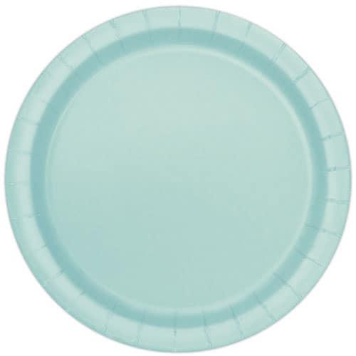 Mint Round Paper Plates 22cm - Pack of 16 Bundle Product Image