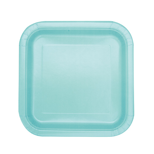 Mint Square Paper Plates 17cm - Pack of 16 Product Image