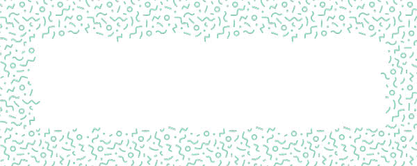 Mint Squiggle Design Medium Personalised Banner - 6ft x 2.25ft