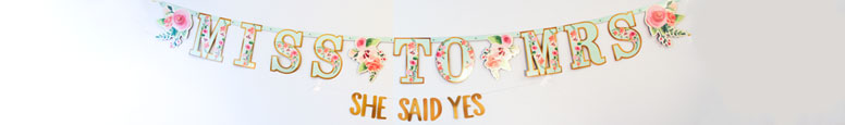Mint To Be Hen Party Cardboard Letter Banners - Pack of 2