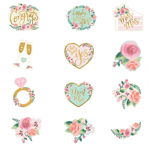 Mint To Be Hen Party Cardboard Cutouts Decorations - Pack of 12