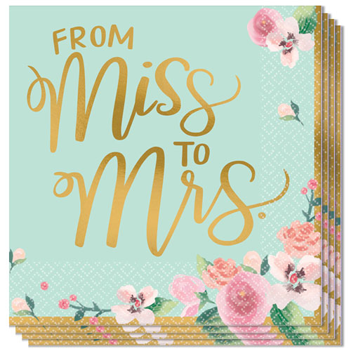 Mint To Be Hen Party Luncheon Napkins 33cm 2Ply - Pack of 16