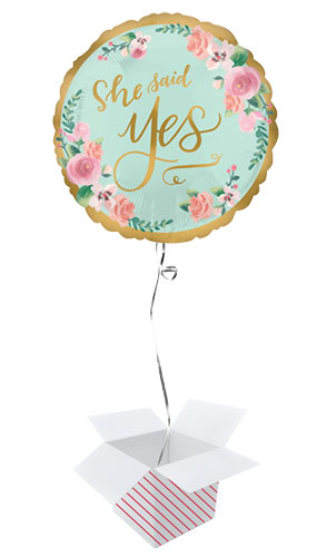 Mint To Be Hen Party Round Foil Helium Balloon - Inflated Balloon in a Box Product Gallery Image