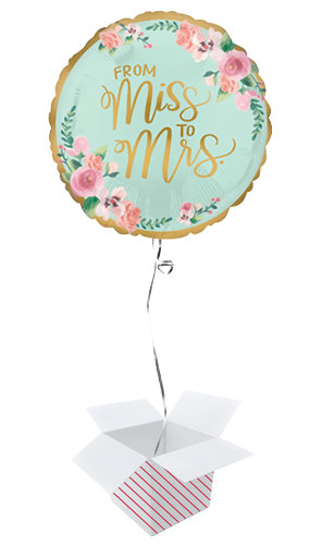 Mint To Be Hen Party Round Foil Helium Balloon - Inflated Balloon in a Box