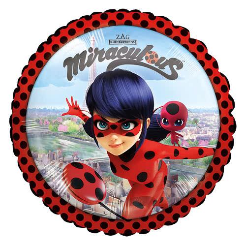 Miraculous Ladybug Round Foil Helium Balloon 43cm / 17Inch Product Image