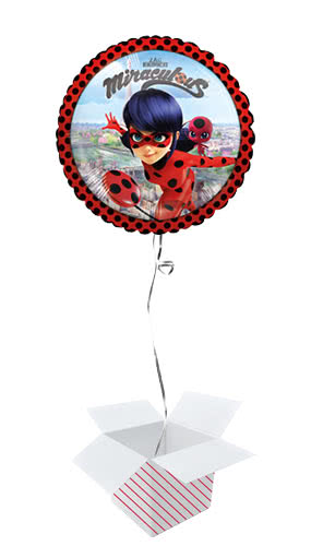 Miraculous Ladybug Round Foil Helium Balloon - Inflated Balloon in a Box Product Image