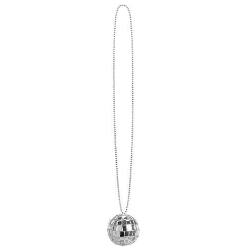 Mirrored Disco Ball Necklace Fancy Dress