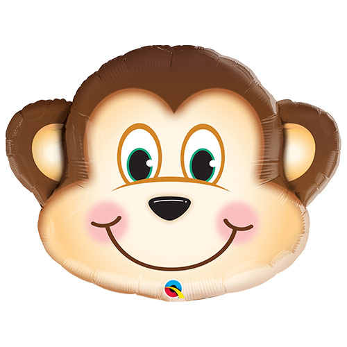 Mischievous Monkey Helium Foil Giant Qualatex Balloon 89cm / 35 in Product Image