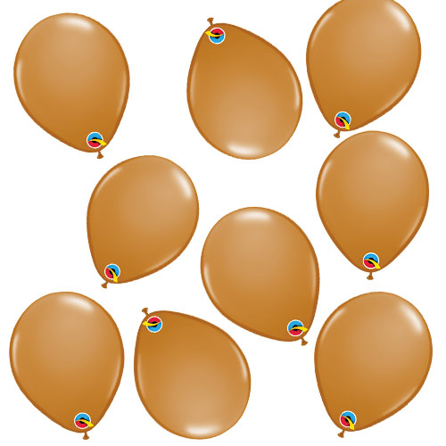 Mocha Brown Round Mini Latex Qualatex Balloons 13cm 5 in Pack of 100