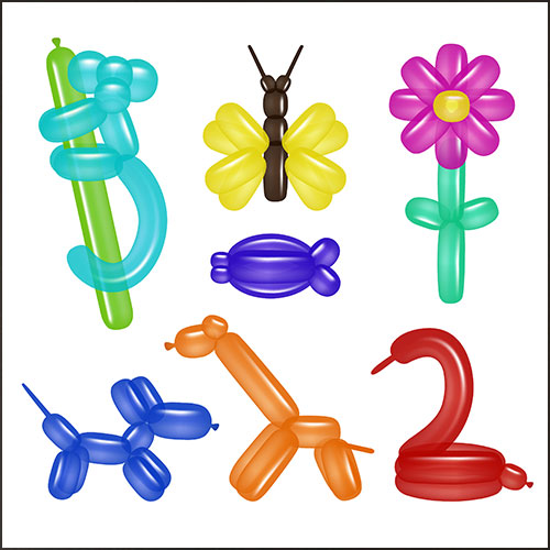 Assorted Modelling Biodegradable Latex Balloons - Pack of 12