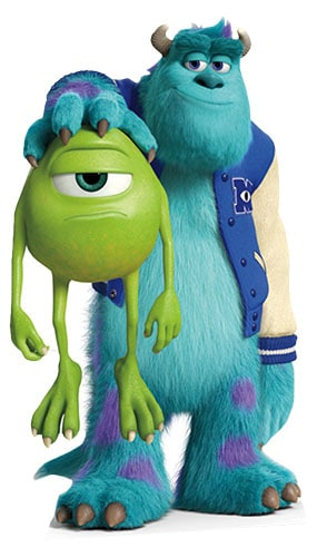 Monsters University Sulley & Mike Lifesize Cardboard Cutout - 179cm Product Image