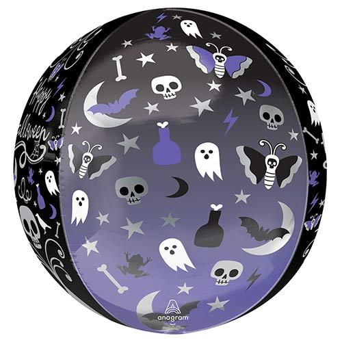 Moonlight Halloween Orbz Foil Helium Balloon 38cm / 15 in Product Gallery Image