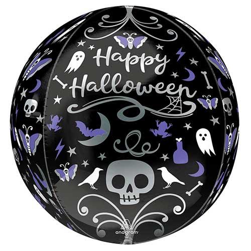 Moonlight Halloween Orbz Foil Helium Balloon 38cm / 15 in Product Image