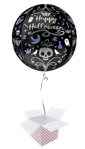 Moonlight Halloween Orbz Foil Helium Balloon - Inflated Balloon in a Box Product Image