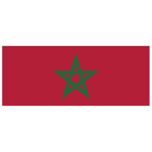 Morocco Flag PVC Party Sign Decoration 60cm x 24cm