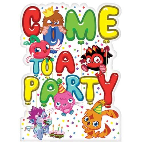 Moshi Monsters Invitations With Envelopes - Pack of 6